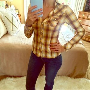 TRUE RELIGION 🍁Perfect Fall Yellow Western Top XS